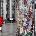 Mostra del percorso del Muro su un tratto originale
